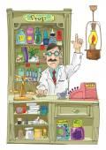 Fotografie Vintage pharmacist - cartoon