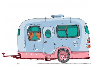 caravan - motor home - cartoon