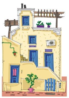 Santorini island, Greece - facade
