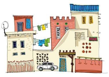 Middle East vintage facades