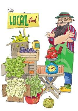 vendor of locally grown produce