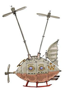 steampunk flight machine