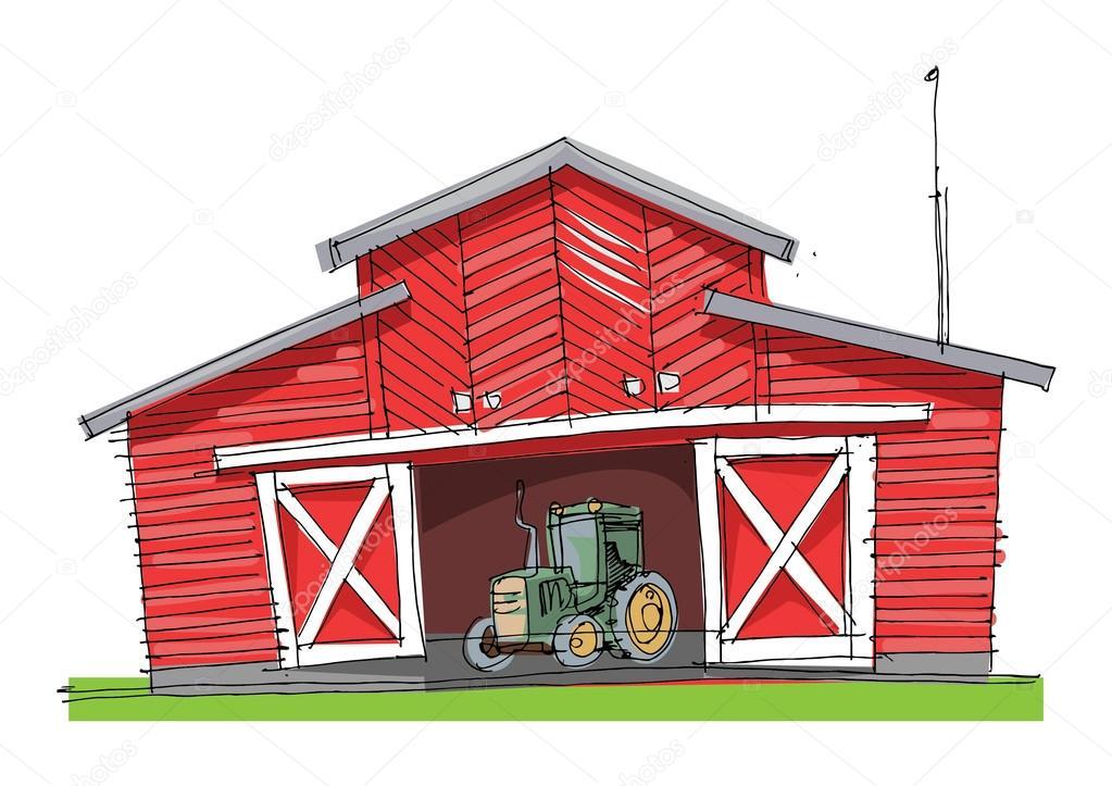 Traditional Barn Cartoon Stock Vector C Iralu1 88310476