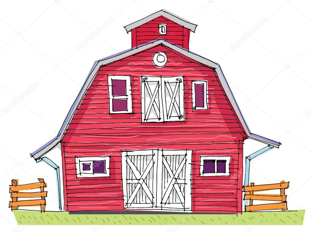 granero tradicional dibujos animados vector de stock  u00a9 iralu1 88310978 cow vector file cow vector file