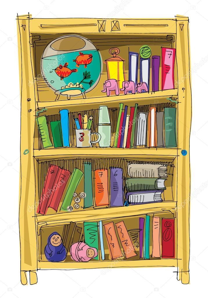 Výsledek obrázku pro knihovna kreslená