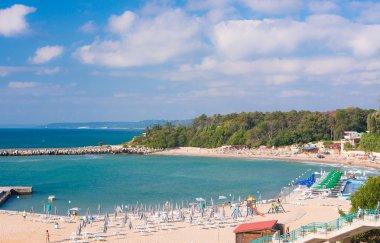 Beautiful landscape on the coast of black sea in Bulgaria stock vector