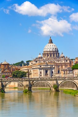 Famous St. Peter's Basilica in Rome,