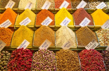 Spices and tea on the Egyptian market