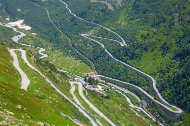 Motor way through the swiss alps