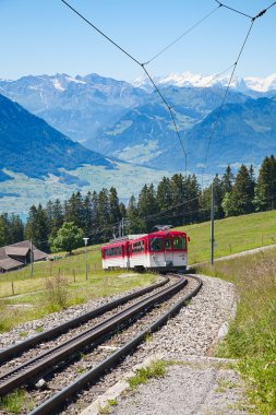 Swiss alpine cog railway train