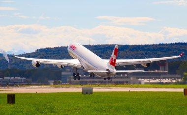 Plane take off  in Zurich