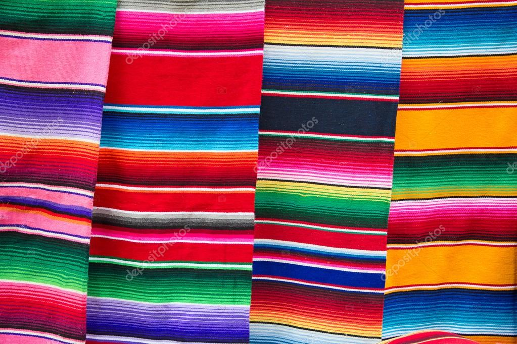 Traditional Mexican Fabric Stock Photo