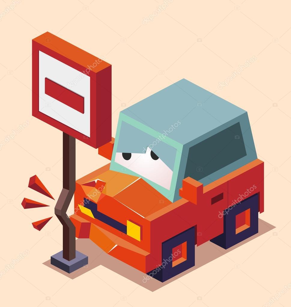Betrunken Autounfall — Stockvektor © sukmaraga #109510186