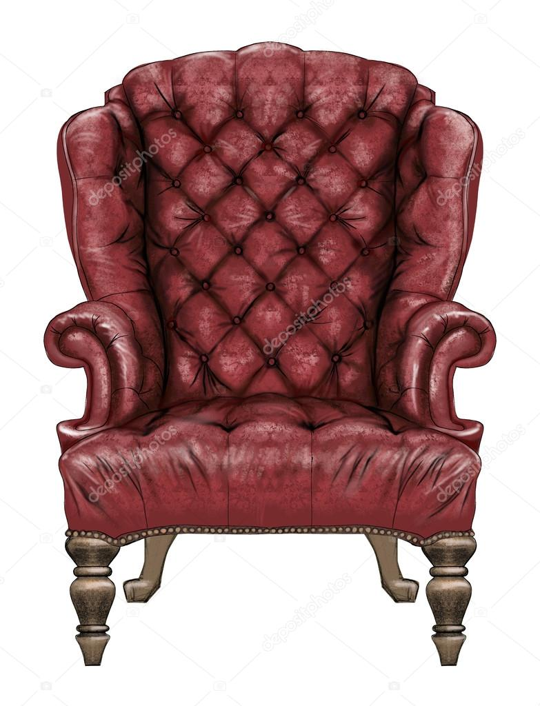 Red Wing Back Chair U2014 Stock Photo