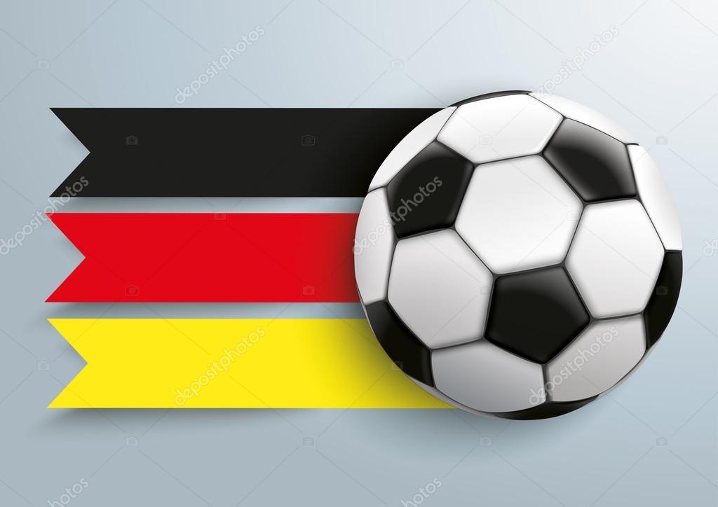 Fussball Deutschland Fahne Stockvektor C Limbi007 108386842
