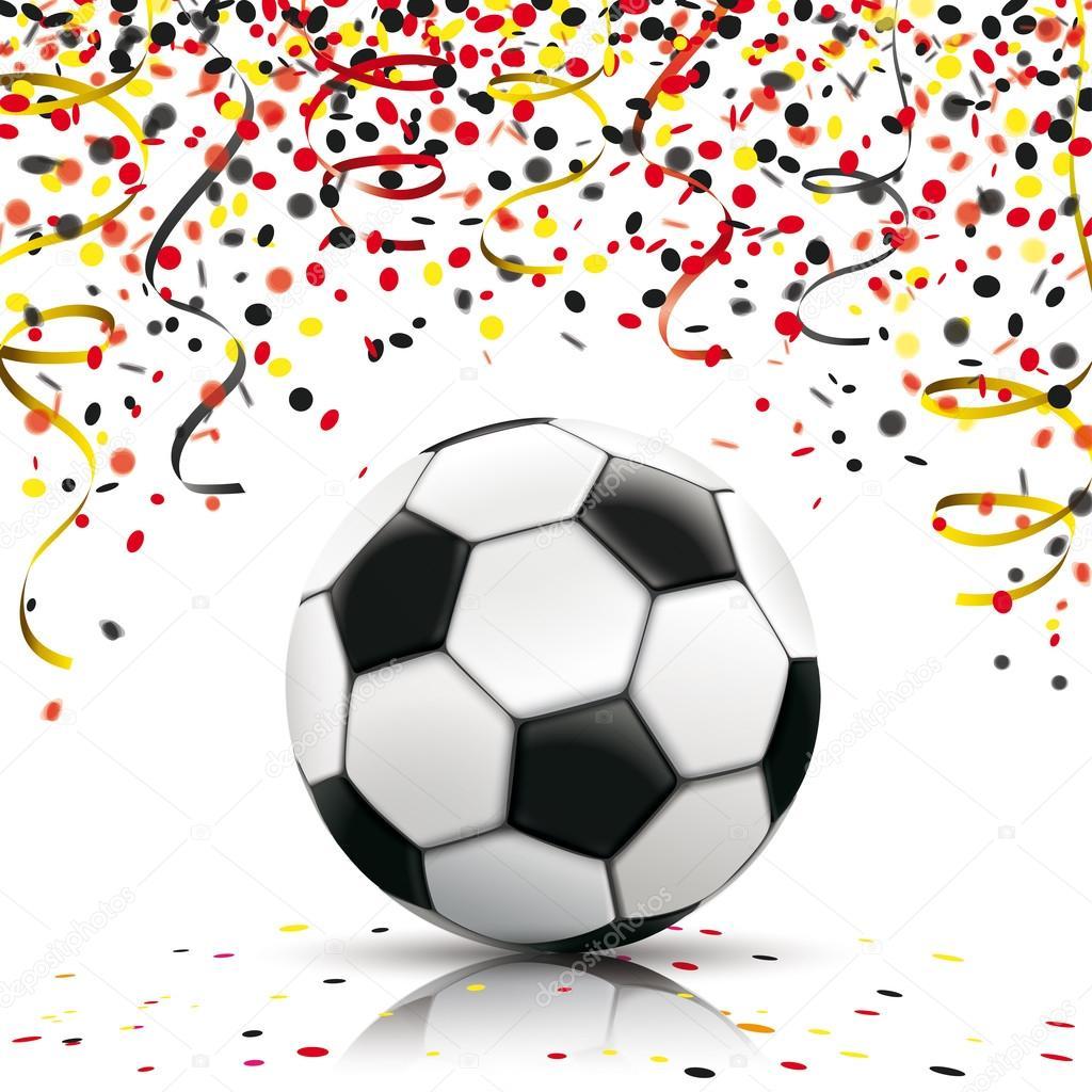 Fußball Konfetti deutschen Farben — Stockvektor © limbi007 #111688892