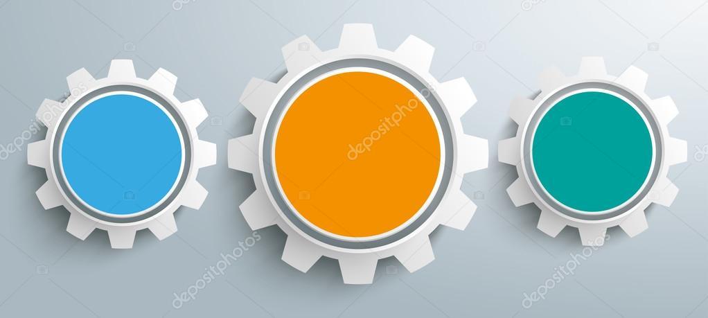 Infografía De Engranajes Color