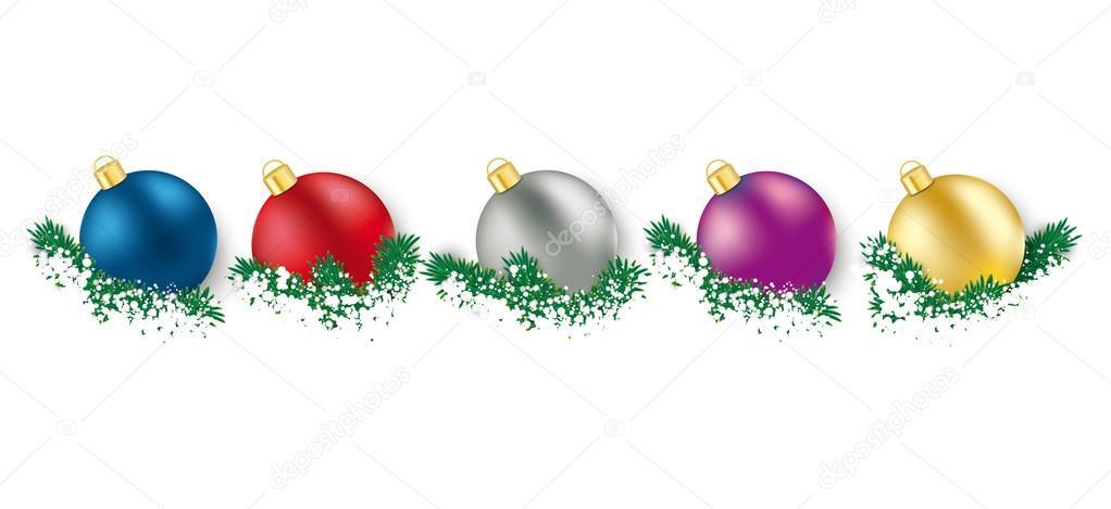 5 adornos de Navidad color verde ramitas — Archivo Imágenes ...