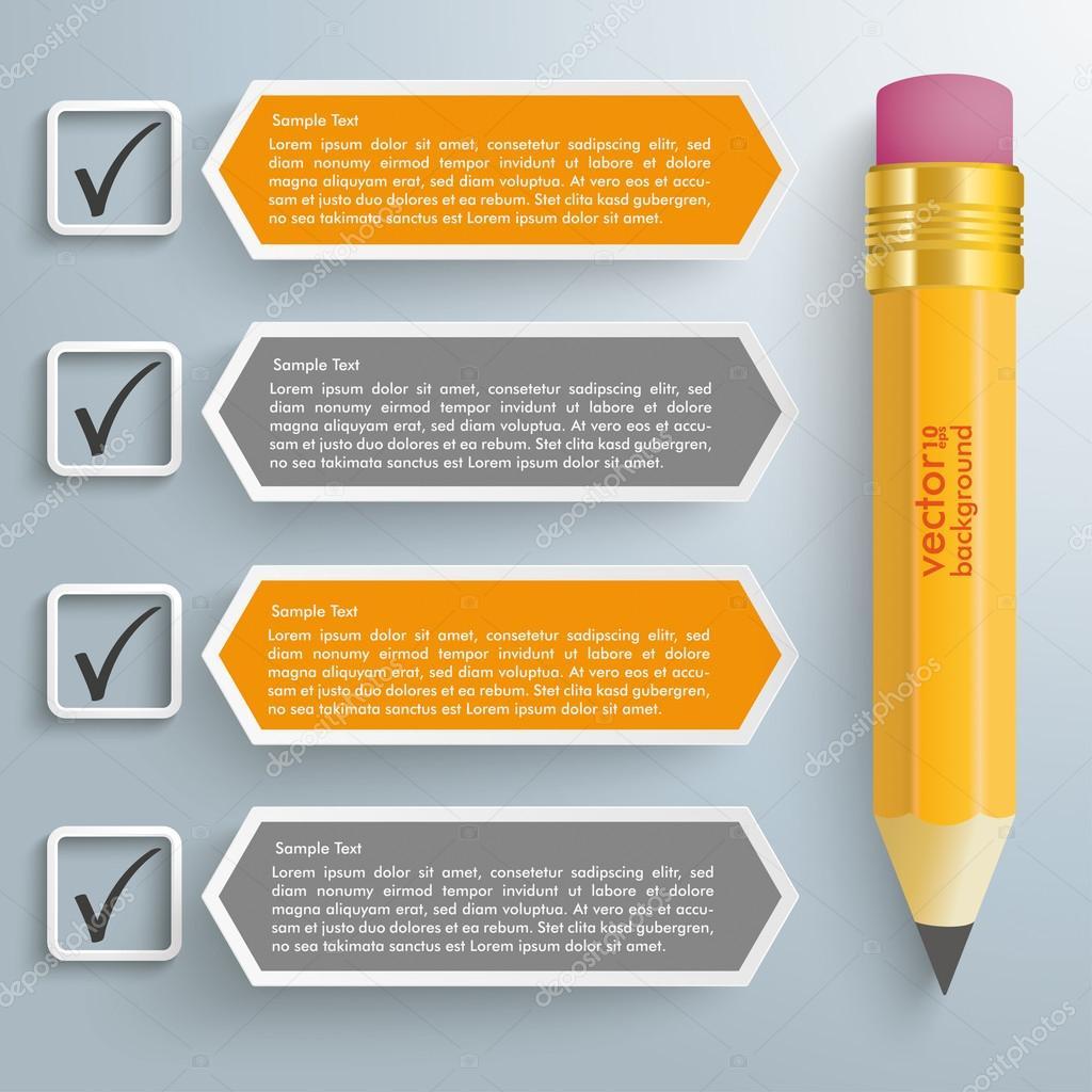 Checkliste-Banner und Bleistift — Stockvektor © limbi007 #72585383