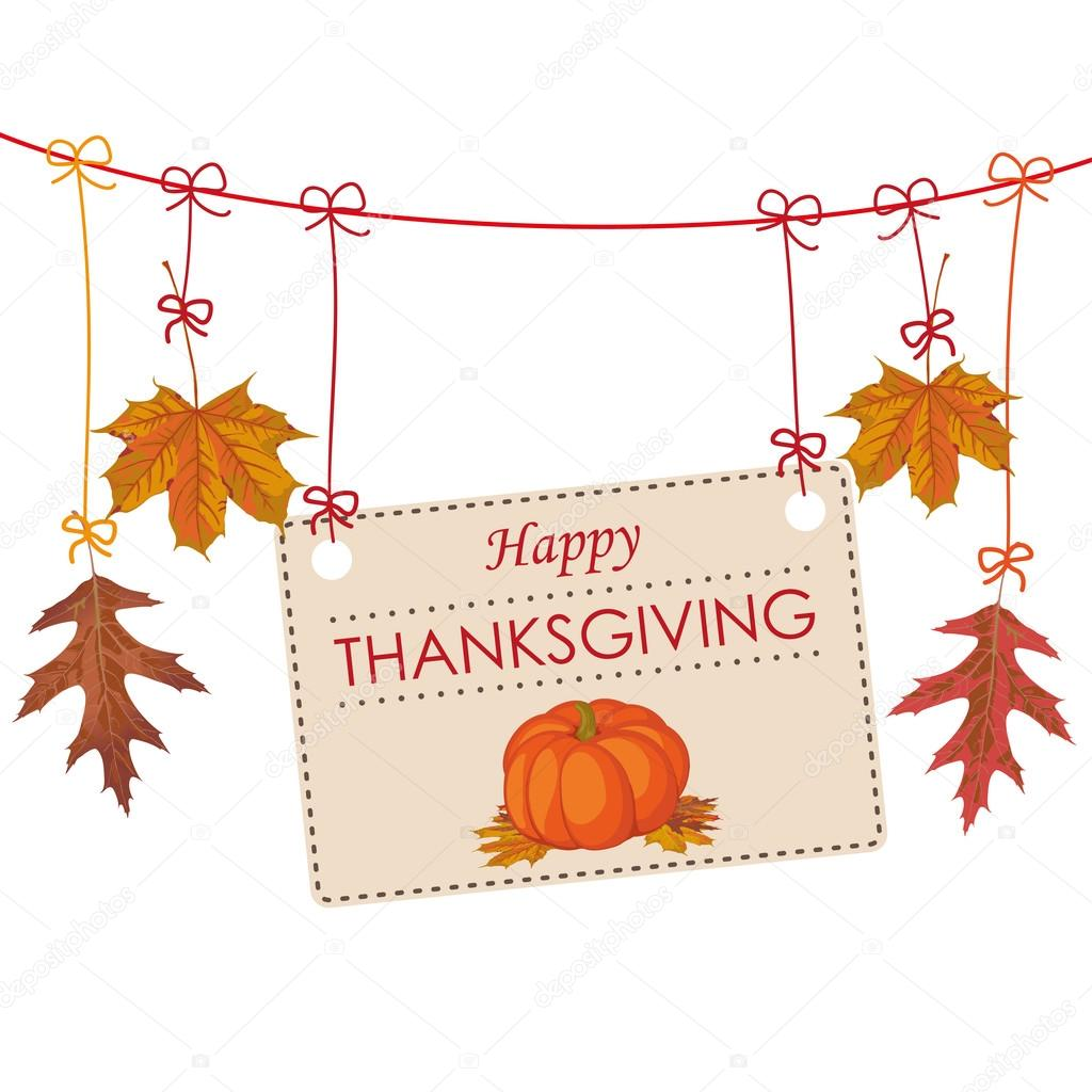 Thanksgiving Banner Part - 21: Autumn Thanksgiving Banner U2014 Stock Vector