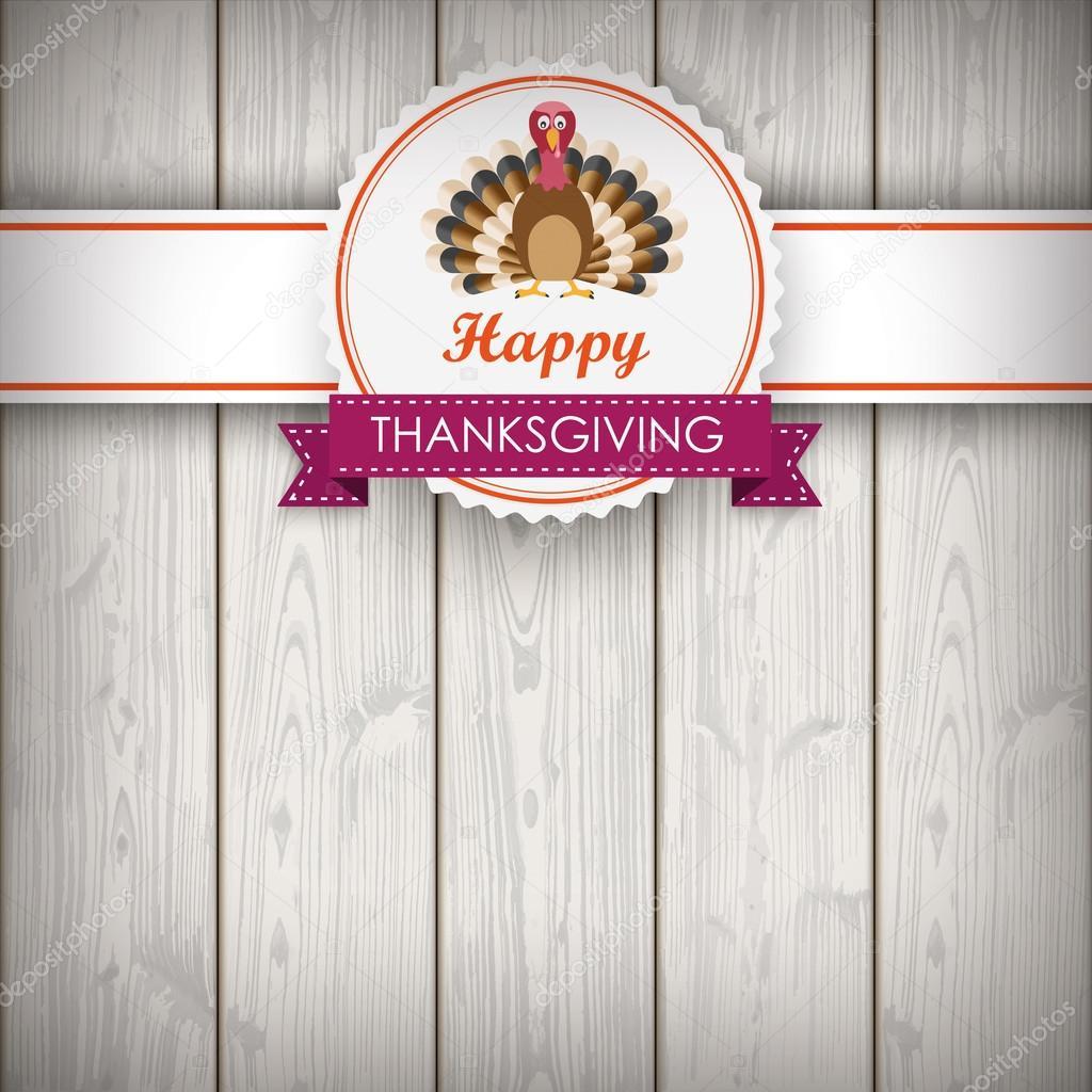 Thanksgiving Emblem Fahne Türkei Holz — Stockvektor © limbi007 #89079894