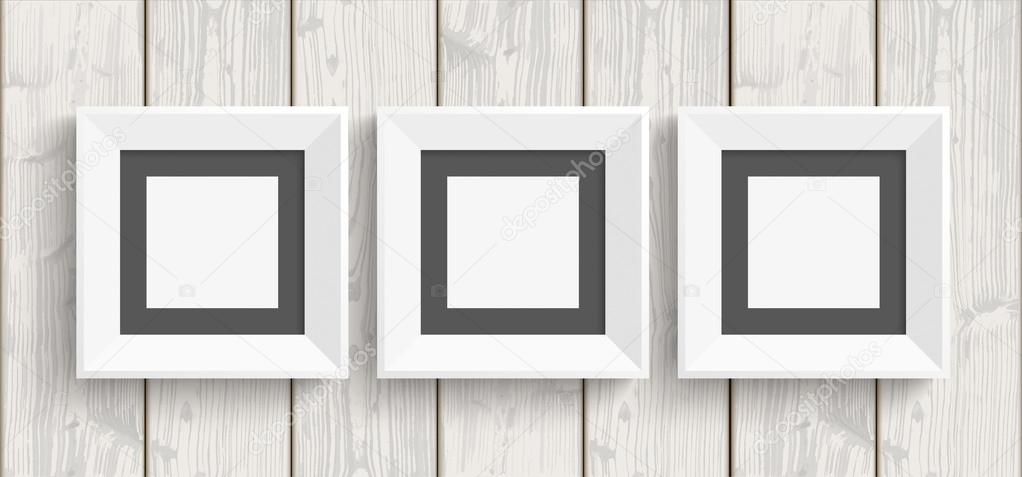 Cuadro 3 marcos madera — Vector de stock © limbi007 #89083348