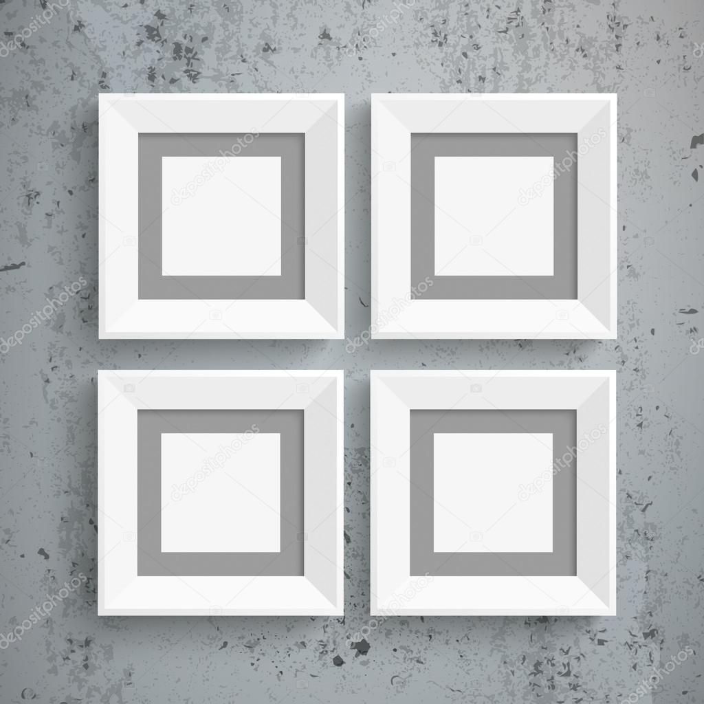 Concreto de 4 marcos blanco — Vector de stock © limbi007 #89083702