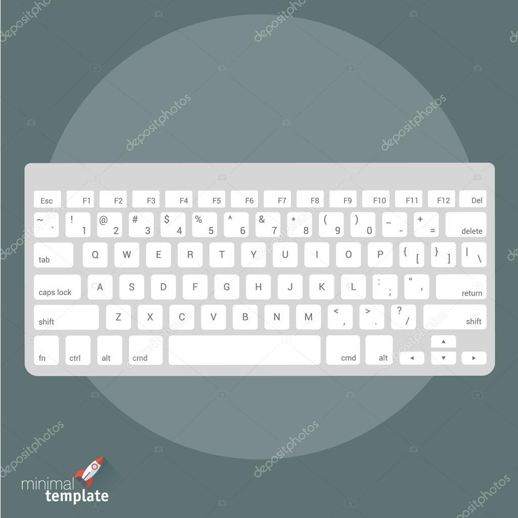 plantilla de teclado de equipo internacional — Archivo Imágenes ...