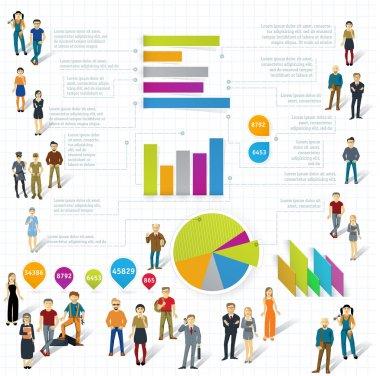 Human infographics template.