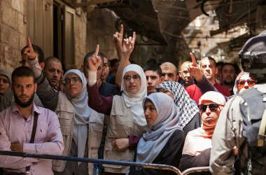 Palestinian demonstration in Jerusalem.