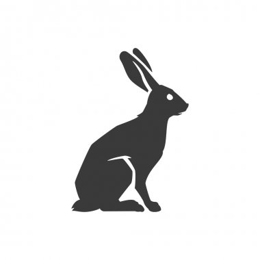 Wild Rabbit Side View Isolated On White Background Vector object