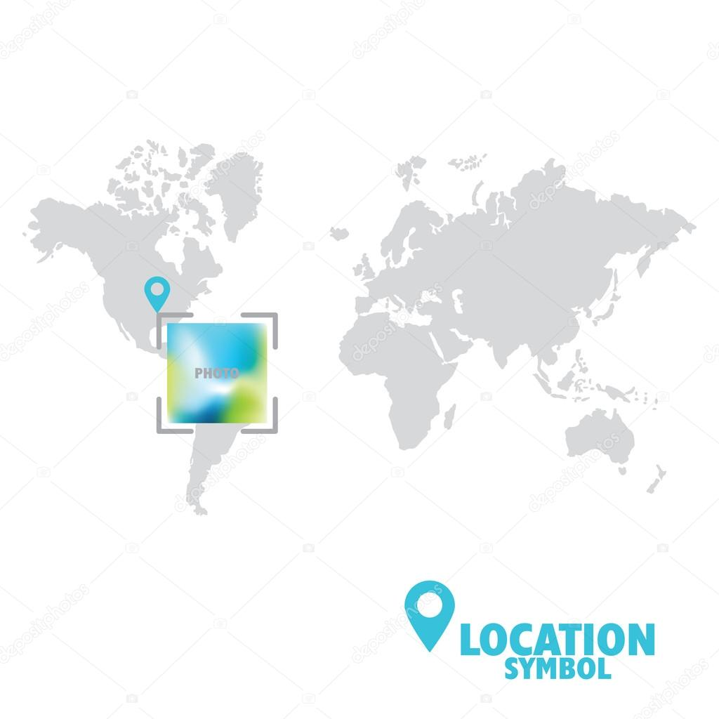 Location symbol map pointer gps location icon world map stock map pointer gps location icon world map vector by leonart gumiabroncs Image collections