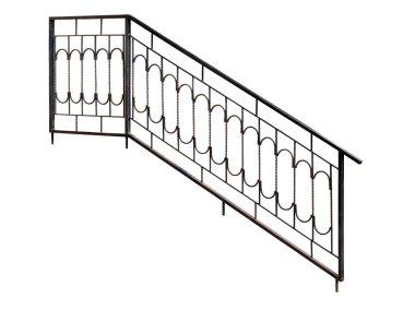 Modern  banisters, railing.