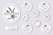 Set of labels for natural bath body products with lavender