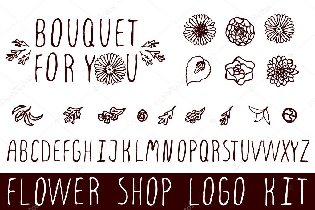 Logo kit for flower shops