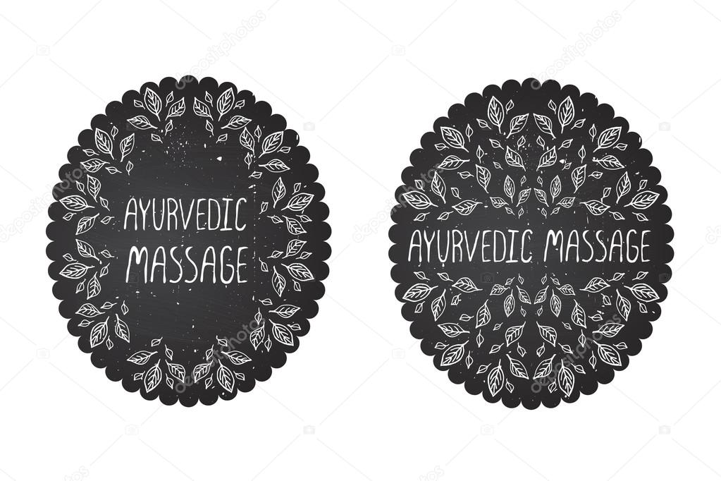 Hand-sketched typographic elements on chalkboard background