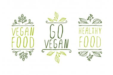 Vegan product labels.