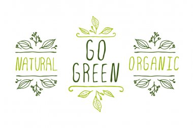 Eco product labels.