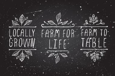 Farm product labels.