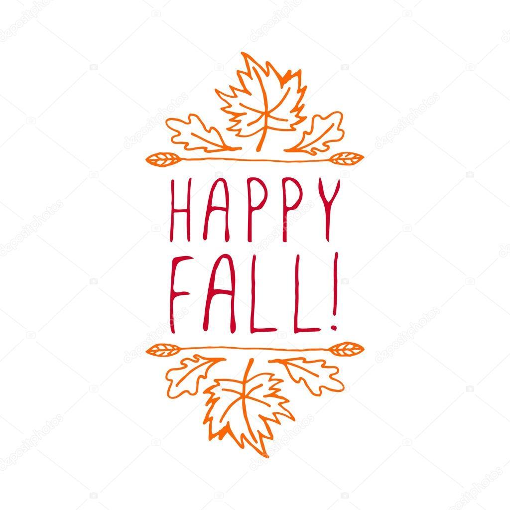 Happy Fall - typographic element