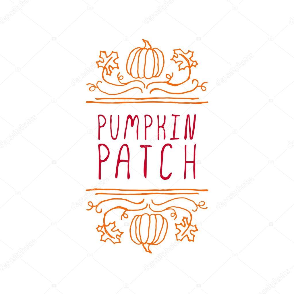 Pumpkin patch - typographic element