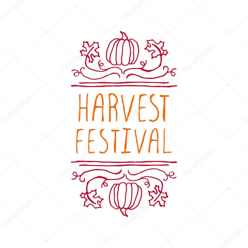 Harvest festival - typographic element