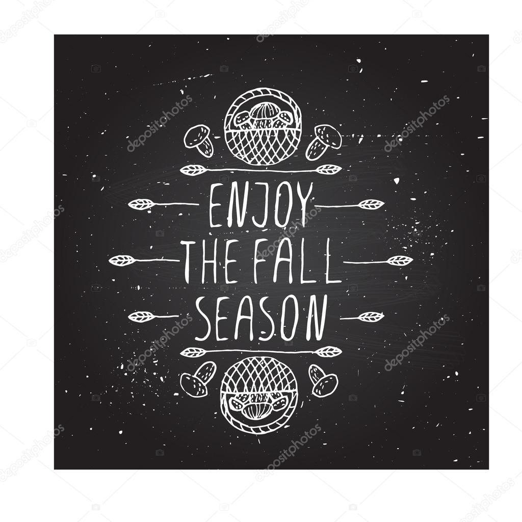 Enjoy the Fall Season - typographic element
