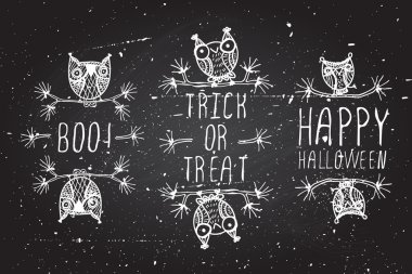 Halloween elements. Boo,