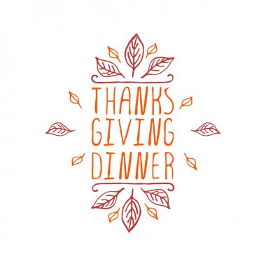 Thanksgiving dinner - typographic element