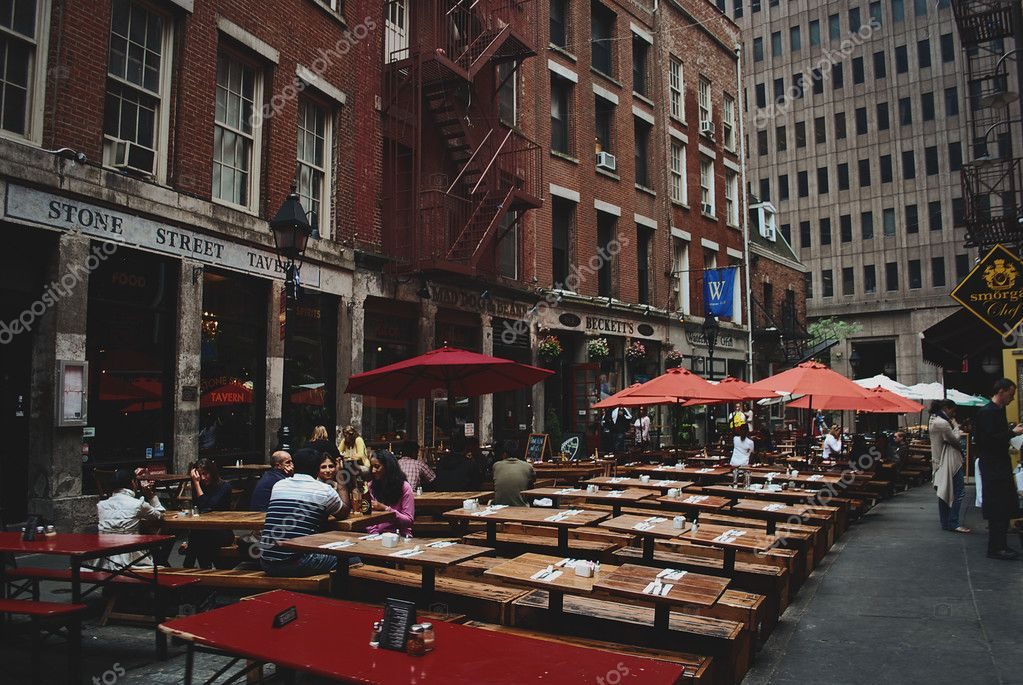 Little Italy in Manhattan, New York. This Italian neighborhood is famous  for its restaurants and annual Feast of San Genarro. – Stock Editorial  Photo © vsv8093 #65891263