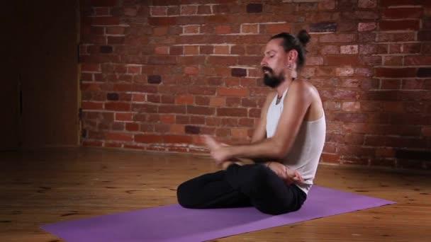 Man meditating in Lotus posture