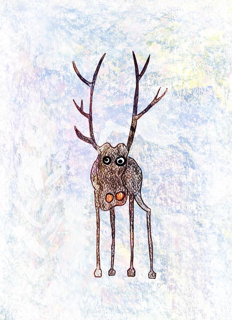 Dibujos Dibujo De Venado A Lapiz Dibujo De Un Venado Solitario