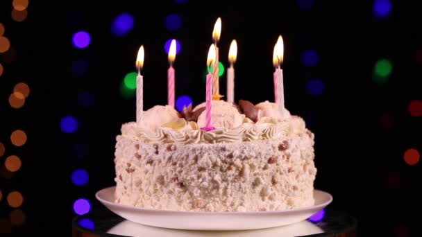 Happy Birthday Cake Stock Video C Alkir Dep 99546598