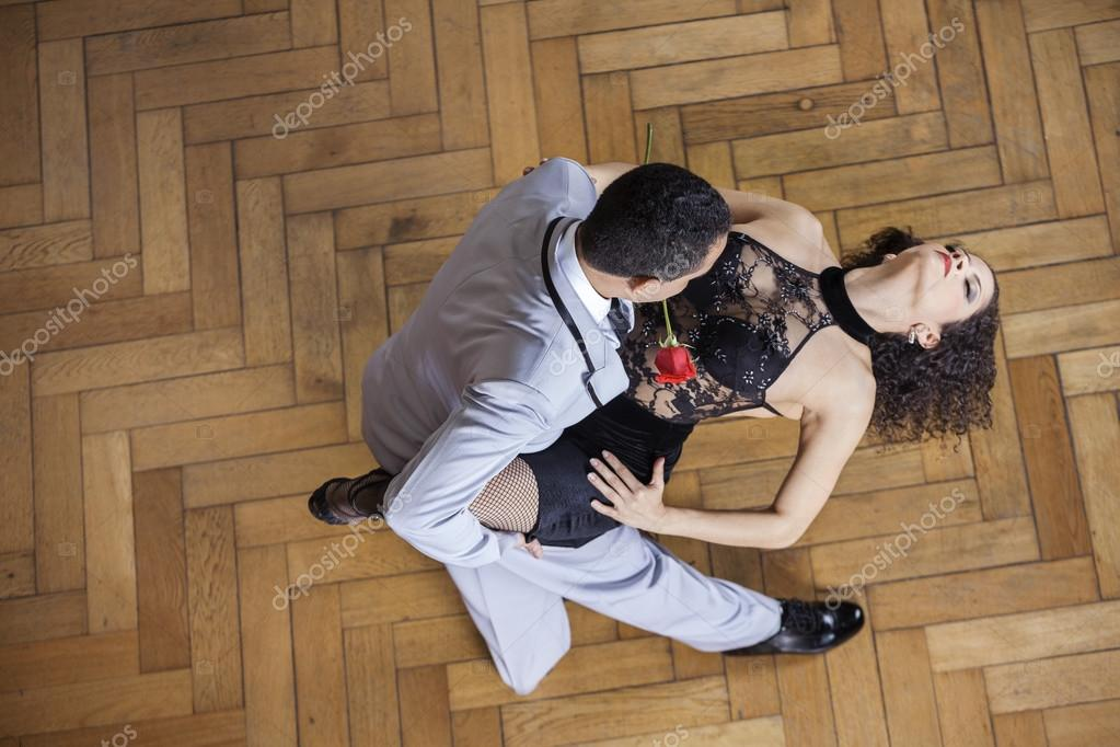 Sensuous Woman Performing Tango With Partner